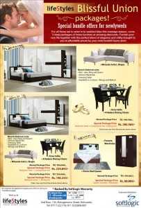 Special Bundle Offers from Lifestyle Blissful Union Packages on Beds suites, Living Room set and Dinning Set