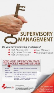 Supervisory Management one day workshop by Brandix College of Clothing Technology
