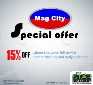 15% Off from Mag City till 31st August 2012