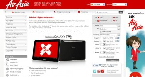 Airasia X In flight Entertainments with Samsung Galaxy Tab 10.1 from 14th July 2012