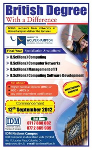 B.Sc (Hons) Computing Degree Programme by IDM Srilanka