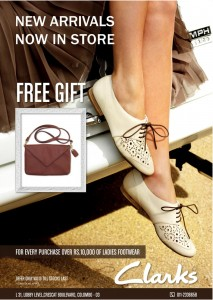 Buy Clarks Footwear and get FREE Handbag