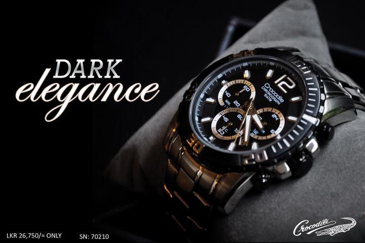 Crocodile Dark Elegance Wrist Watches In Srilanka 171 Synergyy