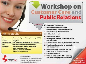 Customer Care and Public Relations workshop by Brandix