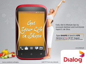 Daily Diet & Life style tips from Dialog FREE Updates till 15th August