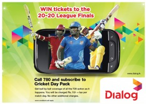 Dialog T20 2012 Cricket update SMSs