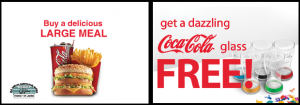 FREE Coca Cola Glass for McDonald Large Meal