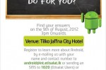 Free Android workshop in Jaffna Srilanka on 9th August 2012