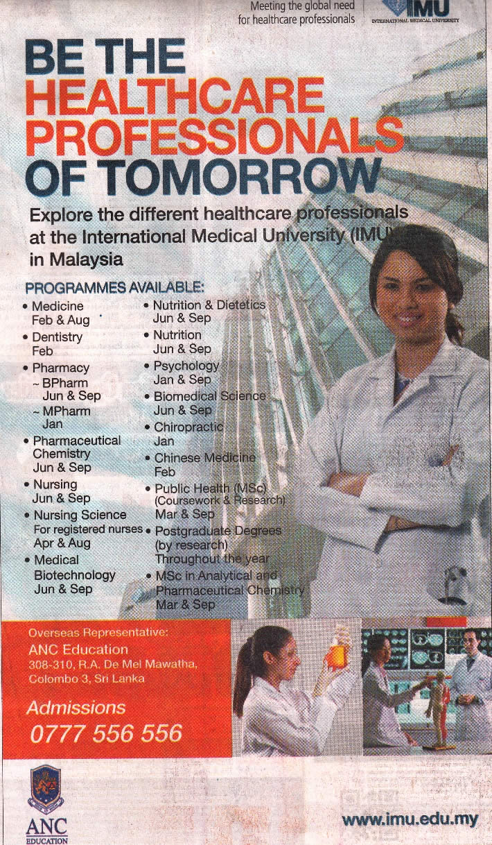Healthcare Professional Studies in Malaysia via ANC