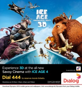 Ice Age Continental Drift 3D Mobile Booking