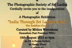 India through Sri Lankan Eyes – A Photo Exhibition