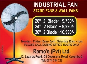 Industrial Fan Sales in Srilanka