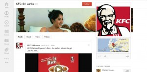 KFC Sri Lanka on Google+ Now