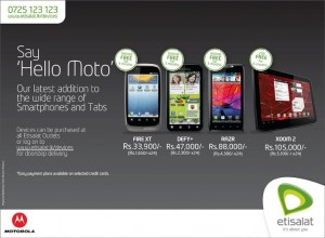 Motorola Smartphone and Tablets in Srilanka