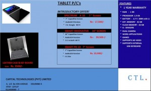 Tablet PC's introductory Offer in Srilanka