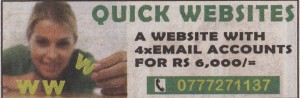 The Lowest Price for Website with 4 x Emails – Rs. 6,000.00