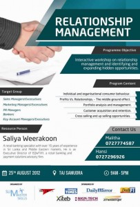 Relationship Management – One day Workshop by SLIM
