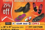 25 % off on Branded Footwear on 26th & 27th September 2012