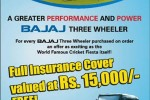 Bajaj Three Wheeler (Auto) for Rs. 450,100.00 with All Taxes