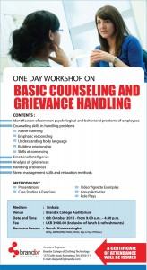 Basic Counseling and Grievance handling one day workshop