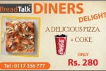 Breadtalk Sri Lanka introduce Pizza + Coke for Rs. 280.00