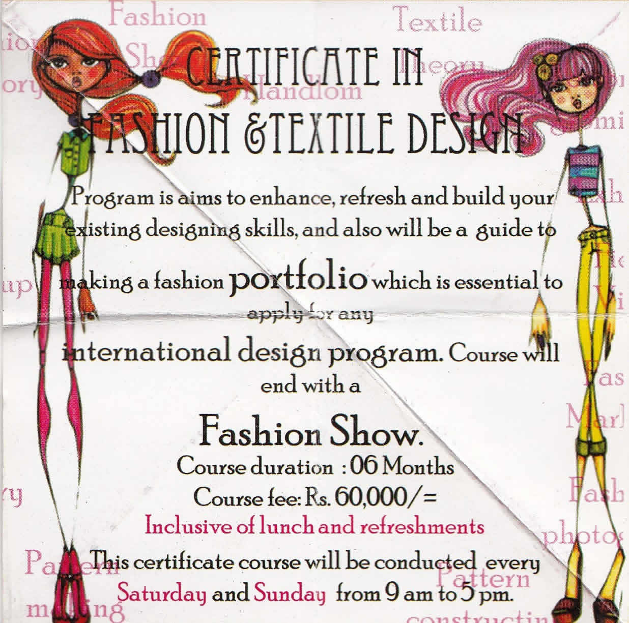 Certificate In Fashion Textile Design Srilanka