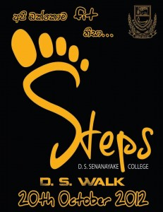 D.S.Senanayake College Walk 2012 – Steps