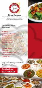 Daily Lunch Delivery Services for Hewa Caterers