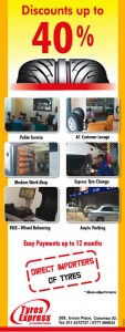 Discounts upto 40% on Tyres Express