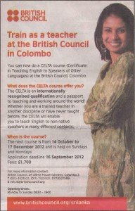 English Course for English teacher by British Council