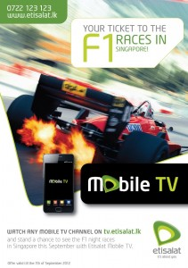 F1 Races in Singapore on Etisalat Mobile TV now