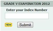 Grade 5 Scholarship examination 2012 examination result