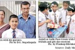 Grade 5 Scholarship high scored Students Thisara and Anjali with 196 Marks out of 200