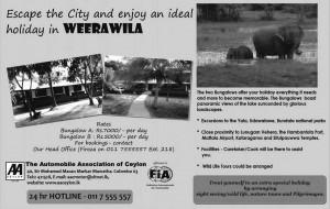 Holiday Bungalow in Weerawila, Srilanka