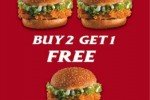 KFC Buy 2 Get 1 FREE offer for 11th September 2012
