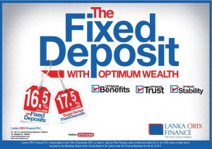 Lanka Orix Finance Fixed Deposit 17.5% per Annum