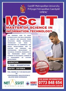 MSc in IT from ICBT Campus