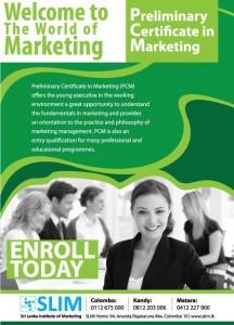 Preliminary Certificate in Marketing (PCM) Enrolment today – SLIM