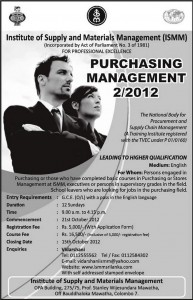 Purchasing Management 22012 by Institute of Supply and Materials Management (ISMM)