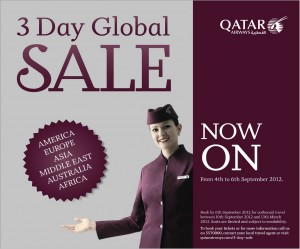 Qatar 3 days Sales are Open Now from 4th September to 6th September 2012