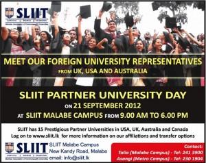 SLIIT Partner University Days on 21st September 2012