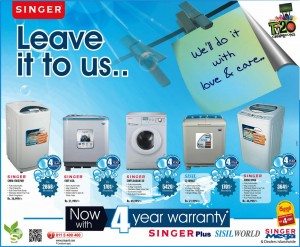 Singer Washing Machine Offer in Srilanka
