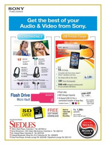 Sony Headphones and USB Portable Chargers from Siedles