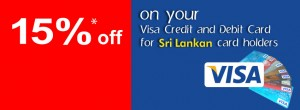 Srilankan Airlines 15% off for Visa Credit and Debit Cards