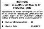Thailand Scholarships for Srilankan Students