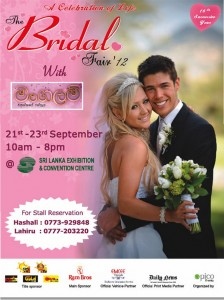 The Bridal Fair 2012 at SLECC on 21st to 23rd September 2012