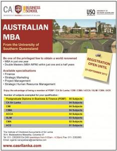 University of Sothern Queensland MBA in Srilanka