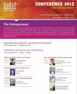 AAT Srilanka Conference 2012 The Entrepreneur