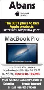 Apple MacBook Pro for Rs. 185,990.00 in Srilanka