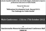 Asia Pacific Academic Consortium for Public Health in Colombo Srilanka